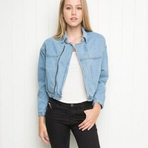 Brandy Melville Vintage Looking Denim Jacket